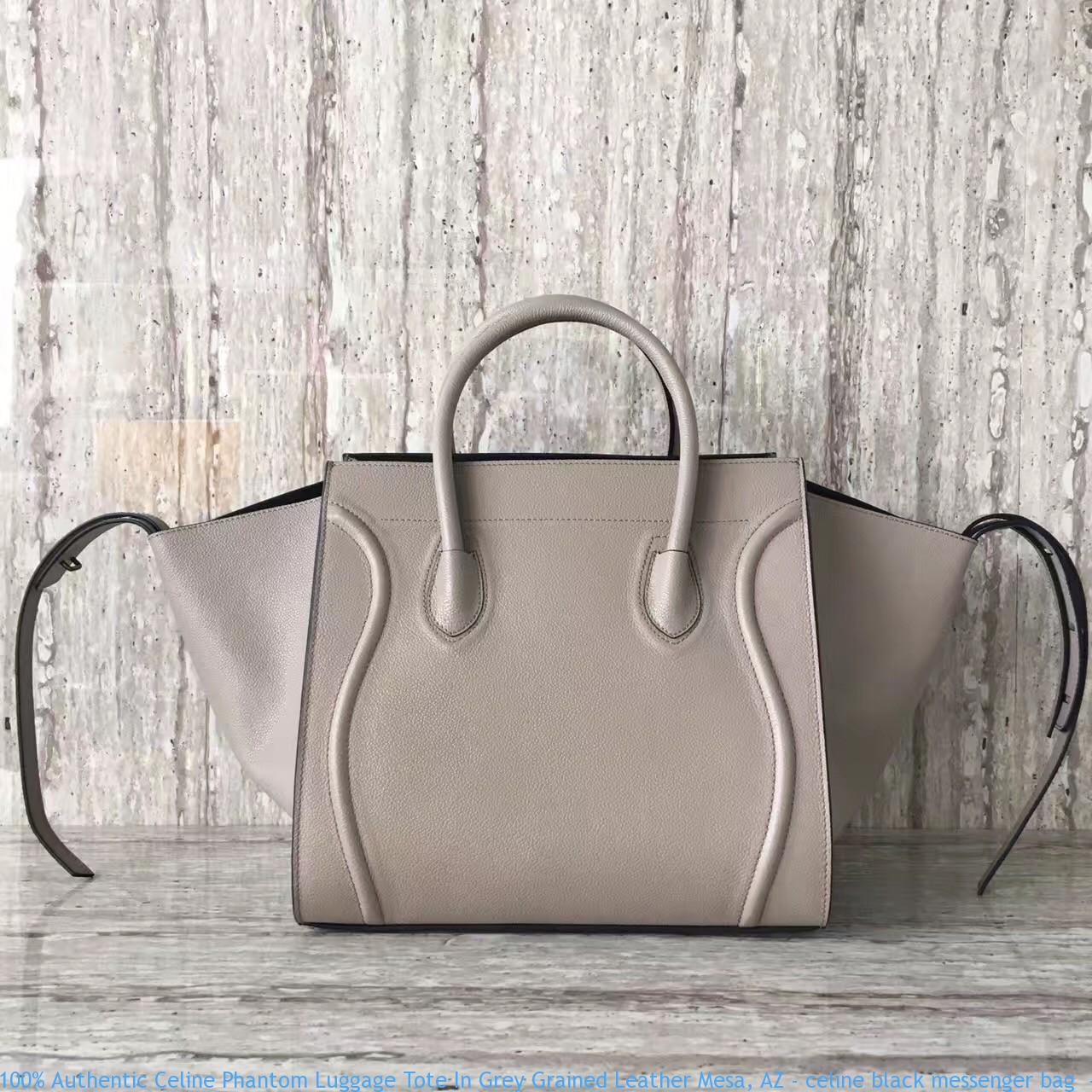 100% Authentic Celine Phantom Luggage Tote In Grey Grained Leather ... bd4ee247fcc0b