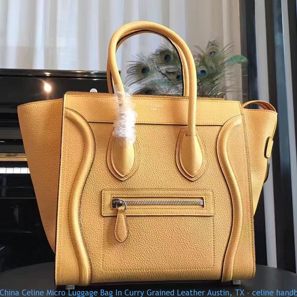 7d4ce7dfcbd58a China Celine Micro Luggage Bag In Curry Grained Leather Austin, TX ...