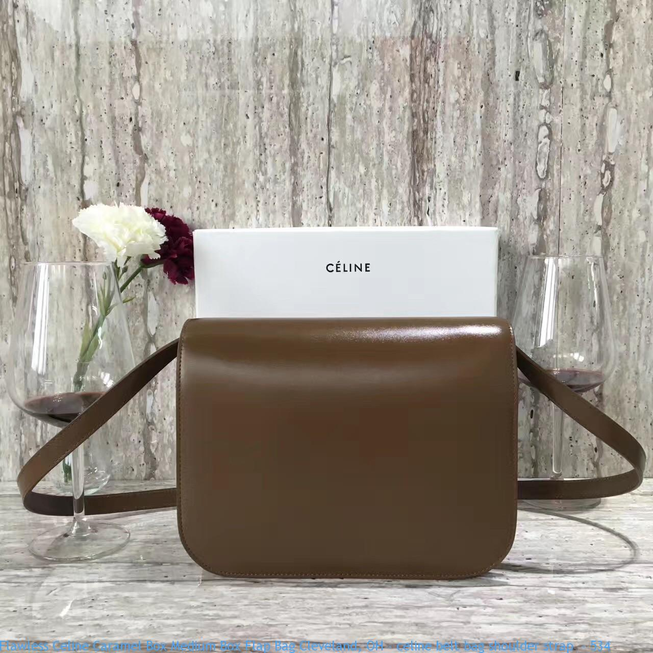 5495f442ded5 Flawless Celine Caramel Box Medium Box Flap Bag Cleveland