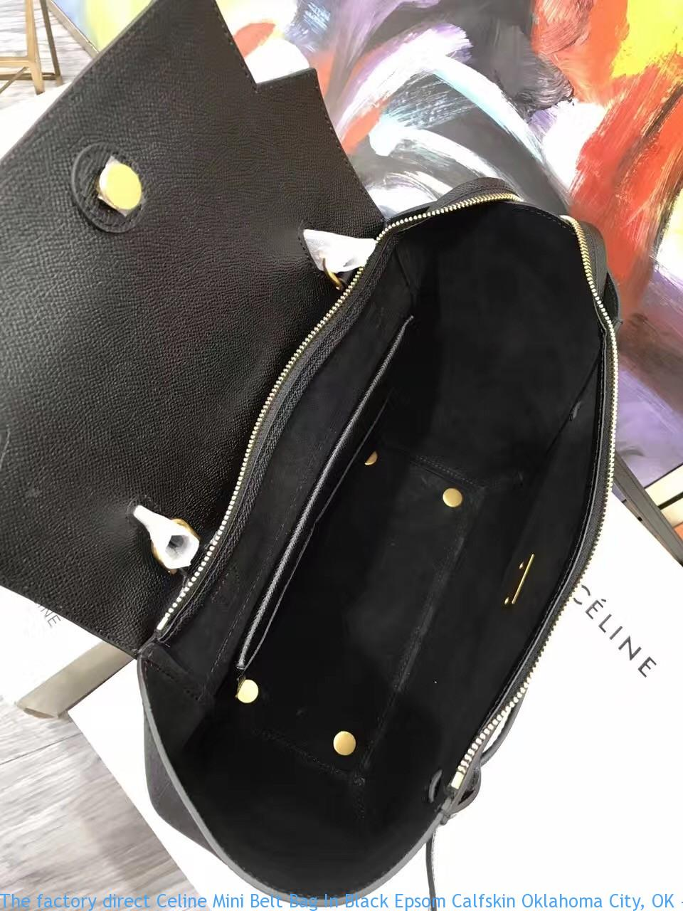 The factory direct Celine Mini Belt Bag In Black Epsom Calfskin ... d93fc2ee65ac6